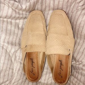 Free People chestnut slides